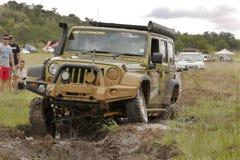 Gekkoparel Groen Jeep Wrangler Rubicon royalty-vrije stock afbeeldingen