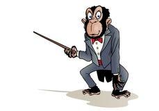 Geklede chimpansee stock illustratie