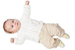 Geklede de jongen van de baby Royalty-vrije Stock Afbeelding