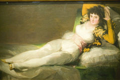 Geklede Maja, Hertogin van Alba, door Francisco de Goya zoals aangetoond in het Museum DE Prado, Prado-Museum, Madrid, Spanje royalty-vrije stock fotografie