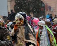 Geklede mensen op Malanka fest. Stock Foto