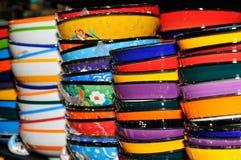 Gekleurd aardewerk Stock Foto's