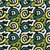 Gekleurd abstract naadloos patroon in de kwaliteits vectorillustratie van de graffitistijl voor uw ontwerp Stock Foto's