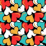 Gekleurd abstract naadloos patroon in de kwaliteits vectorillustratie van de graffitistijl voor uw ontwerp Stock Fotografie