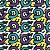 Gekleurd abstract naadloos patroon in de kwaliteits vectorillustratie van de graffitistijl voor uw ontwerp Royalty-vrije Stock Foto