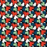 Gekleurd abstract naadloos patroon in de kwaliteits vectorillustratie van de graffitistijl voor uw ontwerp Royalty-vrije Stock Afbeeldingen