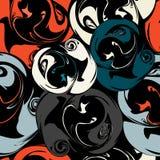 Gekleurd abstract naadloos patroon in de kwaliteits vectorillustratie van de graffitistijl voor uw ontwerp Royalty-vrije Stock Fotografie