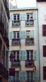 Gekleurd balkon Stock Afbeelding