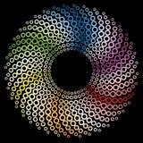 Gekleurd cirkelontwerp Stock Afbeelding