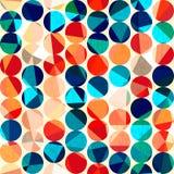 Gekleurd cirkels naadloos patroon met grunge en glaseffect Stock Foto