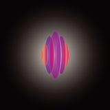 Gekleurd cirkelsembleem Stock Foto's