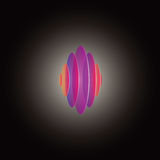 Gekleurd cirkelsembleem royalty-vrije illustratie