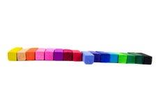 Gekleurd die pastelkleur op witte achtergrond wordt geïsoleerd stock illustratie