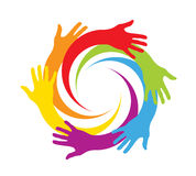 Gekleurd dient een cirkel in Stock Fotografie