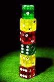 Gekleurd dobbel royalty-vrije stock foto's