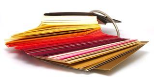 Gekleurd document stock foto's