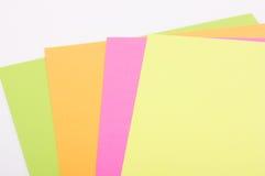 Gekleurd document Royalty-vrije Stock Afbeeldingen