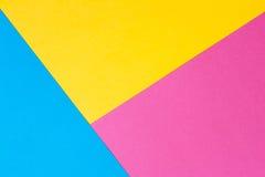 Gekleurd document in een geometrische vlakke samenstelling Stock Afbeeldingen