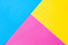Gekleurd document in een geometrische vlakke samenstelling Royalty-vrije Stock Foto