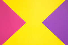 Gekleurd document in geometrisch Stock Fotografie