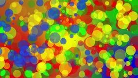 Gekleurd Dots Background Loop stock videobeelden