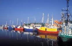 Gekleurd fishboats Stock Foto's