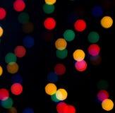 Gekleurd flitslicht op de donkere achtergrond Stock Fotografie