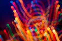 Gekleurd freezelight op donkere achtergrond Stock Afbeeldingen