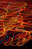 Gekleurd freezelight op zwarte achtergrond Royalty-vrije Stock Foto's