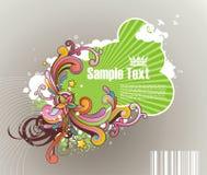 Gekleurd gestreept frame voor tekst Stock Fotografie
