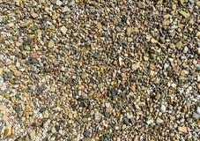 Gekleurd grint en zand als textuur en achtergrond, in abstract en veelzijdig Stock Afbeeldingen