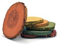 Gekleurd hout Stock Foto's
