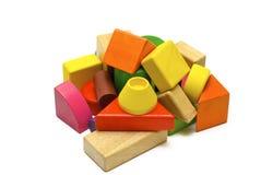 Gekleurd houten speelgoed royalty-vrije stock fotografie