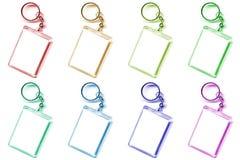 Gekleurd keychain Royalty-vrije Stock Foto