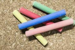 Gekleurd krijt Stock Foto