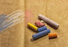 Gekleurd krijt-getrokken stock illustratie
