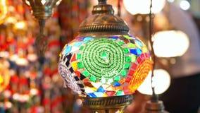 Gekleurd lampenbinnenland stock videobeelden