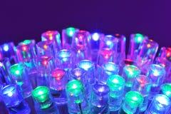 Gekleurd leds Royalty-vrije Stock Foto's