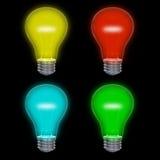 Gekleurd lightbulbs Royalty-vrije Stock Foto's