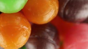 Gekleurd lollysfruit stock footage