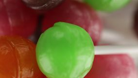 Gekleurd lollysfruit stock videobeelden