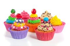 Gekleurd mooi cupcakes Royalty-vrije Stock Foto's