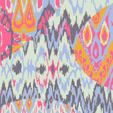 Gekleurd naadloos etnisch drukpatroon Stock Afbeeldingen