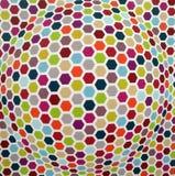 Gekleurd Naadloos hexagonaal Patroon Royalty-vrije Stock Afbeelding