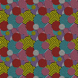 Gekleurd naadloos patroon Abstract Psychedelisch Art Background V royalty-vrije illustratie