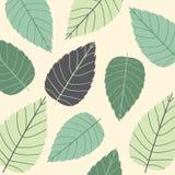 Gekleurd naadloos patroon op bladerenthema De herfst Stock Afbeelding