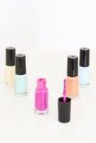 Gekleurd nagellak Stock Afbeeldingen