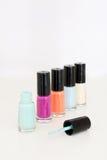 Gekleurd nagellak Stock Foto's