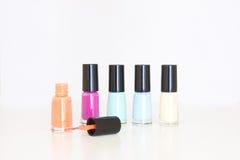 Gekleurd nagellak Stock Foto