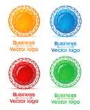 Gekleurd nano embleem Royalty-vrije Stock Foto